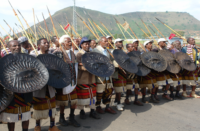 The Sidama seniors celebrating Fichee Chembelala