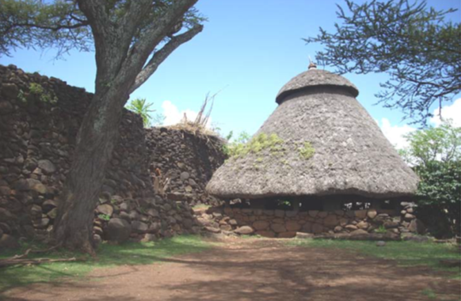 Typical Mora with Pafta (Mora Shilale, Gamole Paleta); source: Konso Management Plan; 2011